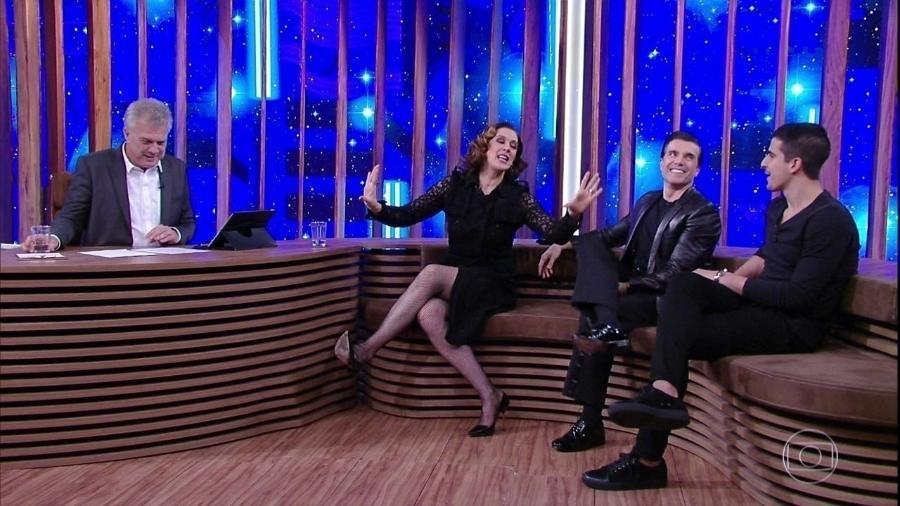 Claudia Raia no programa de Pedro Bial - Reprodução/TV Globo