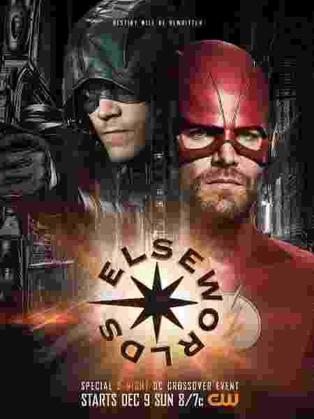 Arqueiro e Flash trocam de uniformes em pôster de crossover da DC - Divulgação