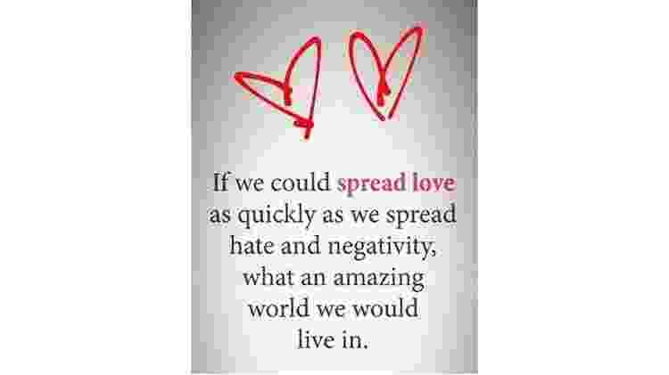 """""""Se pudéssemos espalhar amor tão rápido quanto espalhamos ódio e negatividade, em que mundo maravilhoso viveríamos"""" - Reprodução/Stories - Reprodução/Stories"""