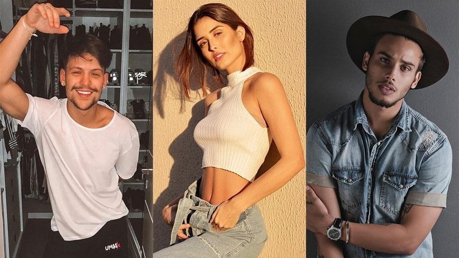 Saulo Poncio, Letícia Almeida e Jonathan Couto protagonizaram escândalo confuso em 2018 - Reprodução/Instagram Montagem/UOL