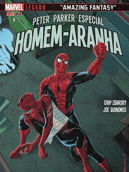 """Capa de """"Peter Parker Especial - Homem-Aranha n° 1"""", editado por Carol Pimentel - Reprodução - Reprodução"""