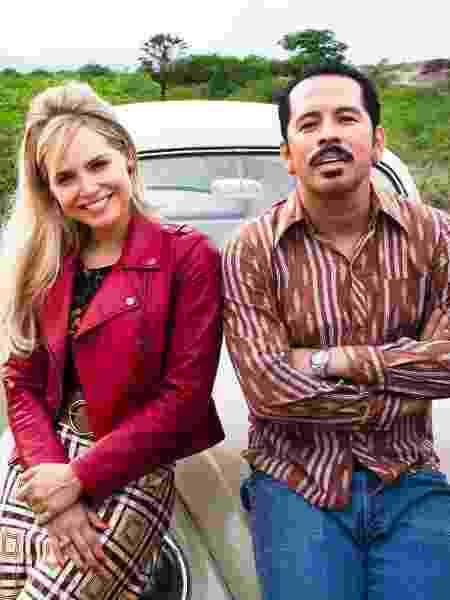 Letícia Colin e Edmilson Filho, protagonistas de Cine Holliúdy - Marcos Rosa/Globo