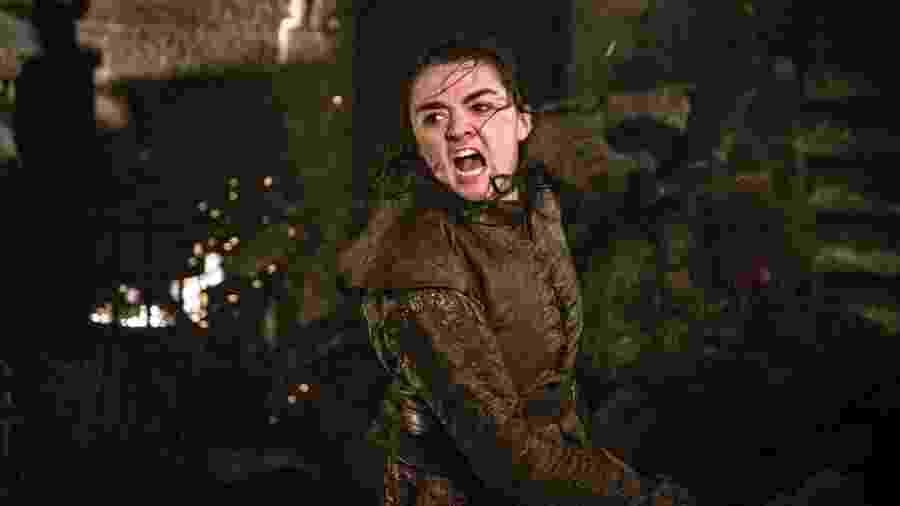 Maisie Williams como Arya em episódio da última temporada de Game of Thrones - Divulgação
