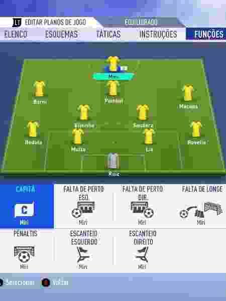 """Miri, Pombal e Elisinha são algumas das jogadoras da seleção brasileira na Copa de """"FIFA 19"""" - Reprodução"""