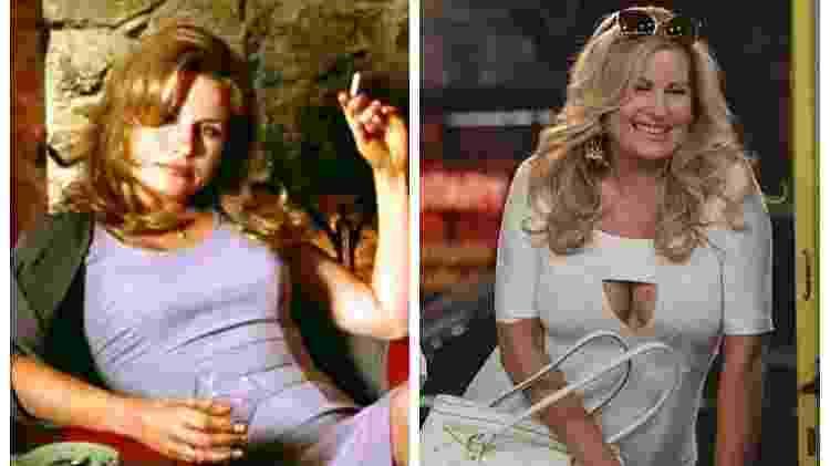 Jennifer Coolidge em American Pie e 2 Broke Girls - Fotos: Divulgação/Montagem: UOL - Fotos: Divulgação/Montagem: UOL