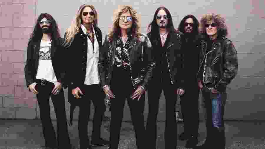 Whitesnake versão 2019: Michael Devin, Joel hoekstra, David Coverdale, Reb Beach, Michele Luppi e Tommy Aldridge - Divulgação