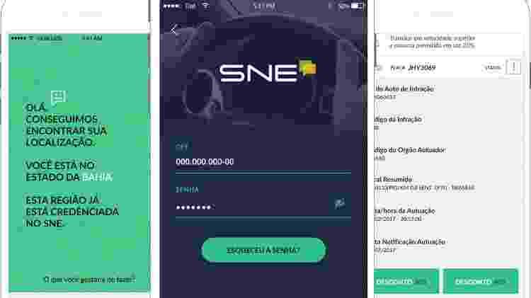 aplicativo sne Sistema de Notificação Eletrônica desconto 40% multa de trânsito - Divulgação - Divulgação