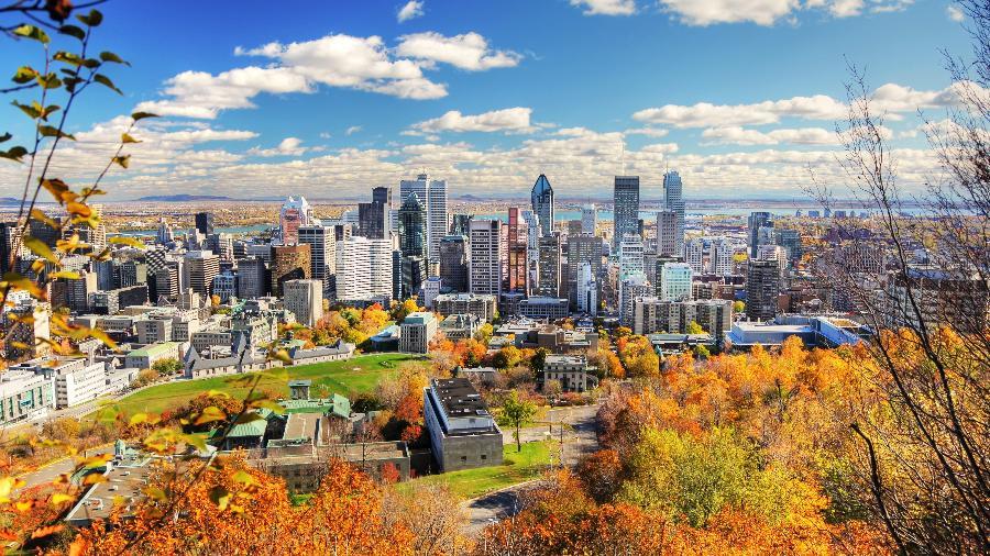 Vista da cidade de Montreal, no Canadá  - Getty Images/iStockphoto