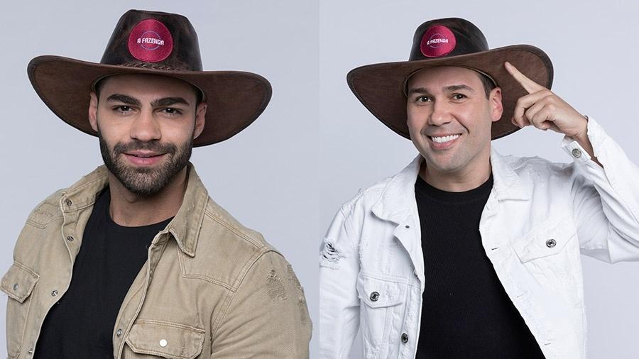 Netto e Viny estão na nona roça de A Fazenda 2019 - Montagem/Antonio Chahestian/ Record TV