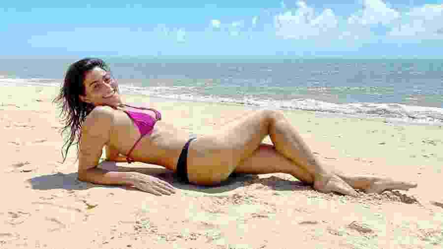 Carol Castro se despediu das férias na Bahia - Reprodução/ Instagram