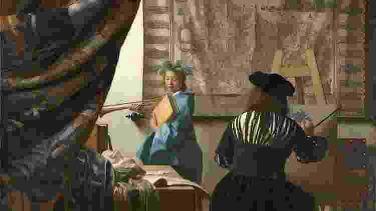"""""""A arte da pintura"""", de Johannes Vermeer - Divulgação  - Divulgação"""