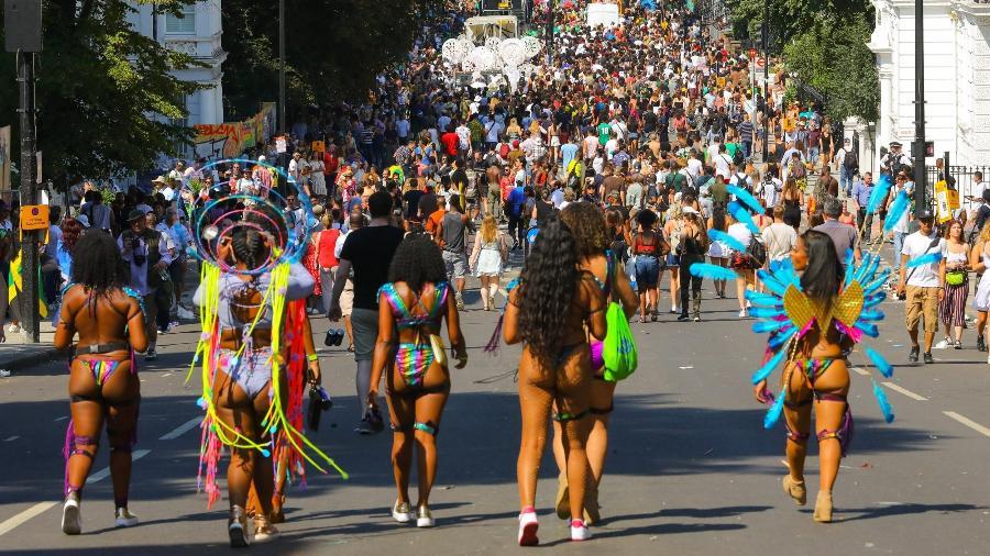 Carnaval em Notting Hill, em Londres, na Inglaterra - Getty Images