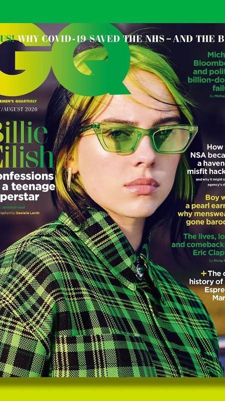 Billie Eilish na capa da revista GQ britânica - Divulgação - Divulgação