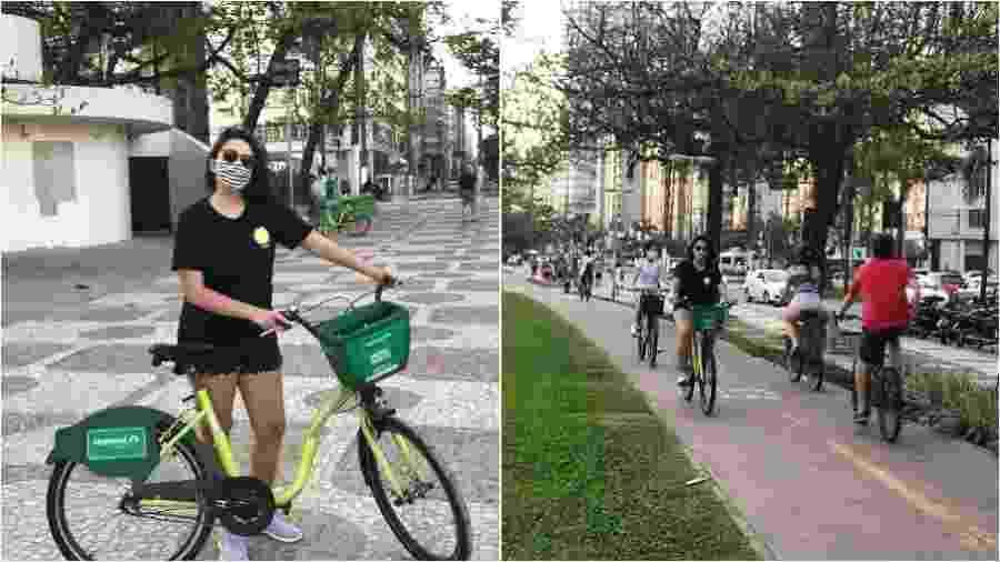 """""""Uma mulher reaprendendo a andar de bicicleta não quer guerra com ninguém"""". Será? - Arquivo pessoal"""