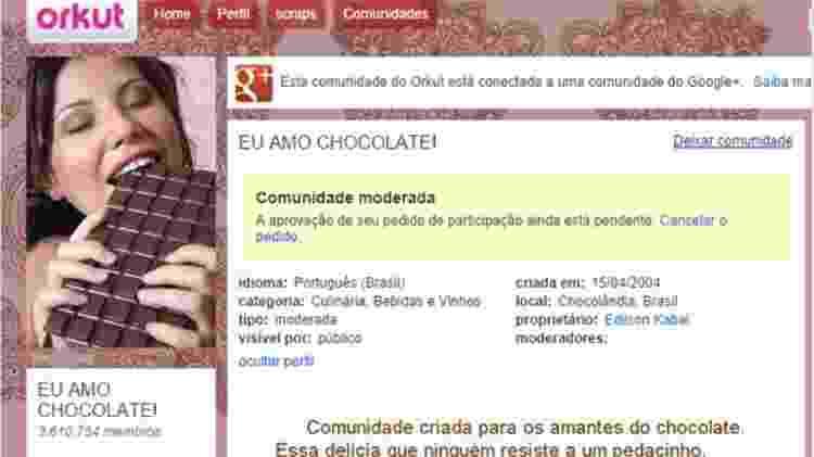 Comunidade - chocolate - Reprodução - Reprodução