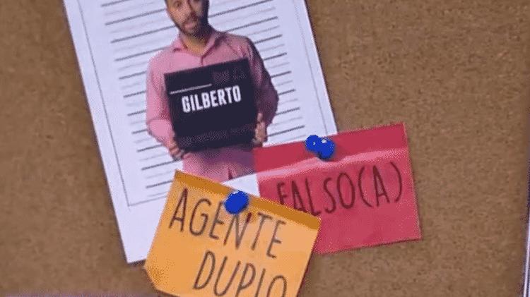 Placa falso Gil - Reprodução/ Globoplay - Reprodução/ Globoplay