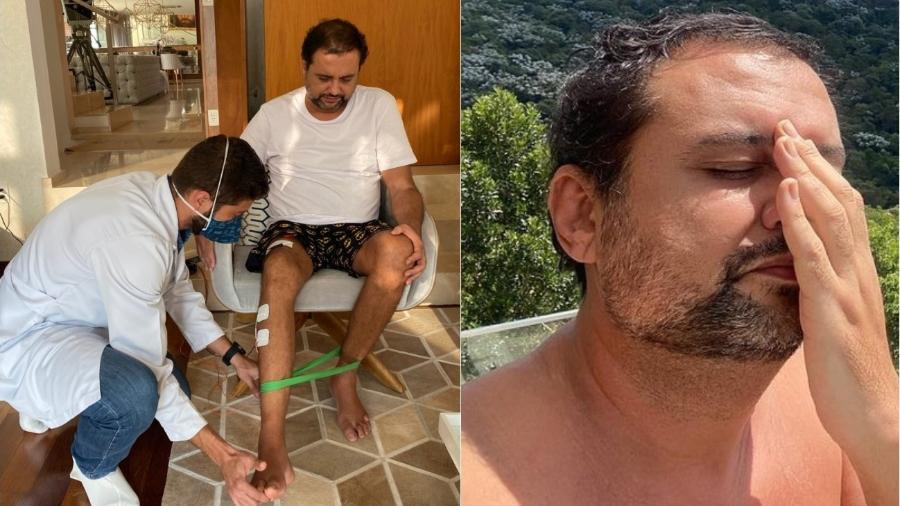 Geraldo Luís faz fisioterapia para recuperar movimentos da perna direita - Reprodução/Instagram