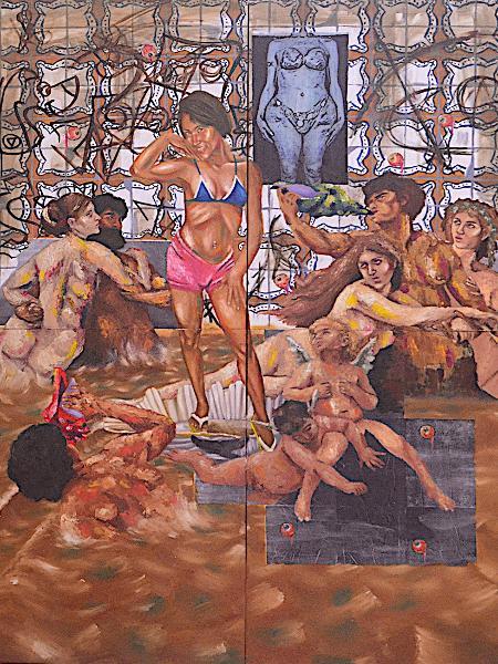 """""""O Nascimento das Tupiniquins - Amapô"""".  Autoria: Rafael Matheus Moreira, artista travesti paraense. - Reprodução/Rafael Matheus Moreira"""