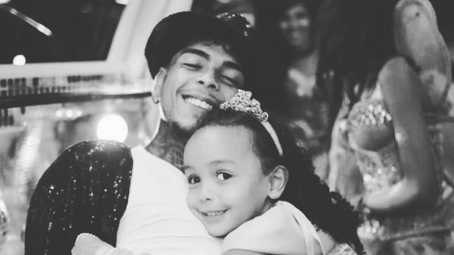 MC Kevin e a filha, Soraya - Reprodução