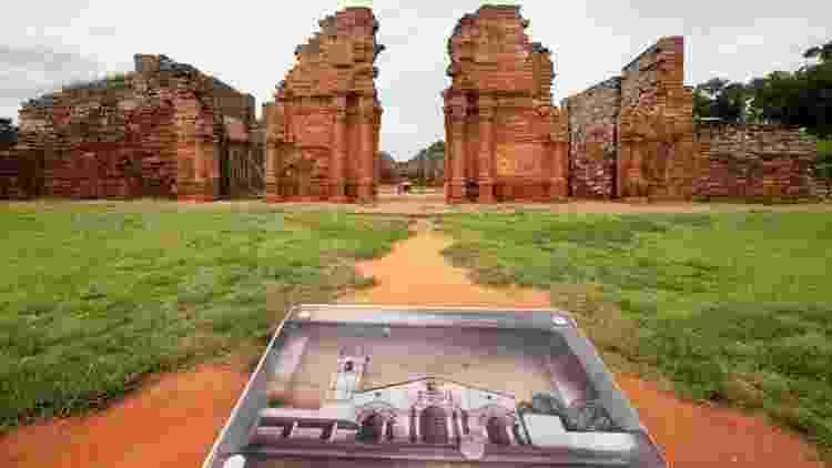 Para se ter uma ideia, estas são as ruínas da missão jesuíta guarani de San Ignacio Mini, em Misiones, na Argentina - Getty Images / BBC News Brasil - Getty Images / BBC News Brasil