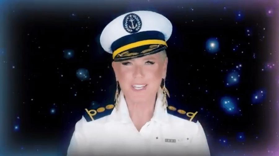 Xuxa compartilhou vídeo para anunciar navio - Reprodução/Twitter