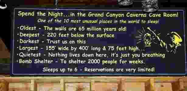 Divulgação/Grand Canyon Caverns