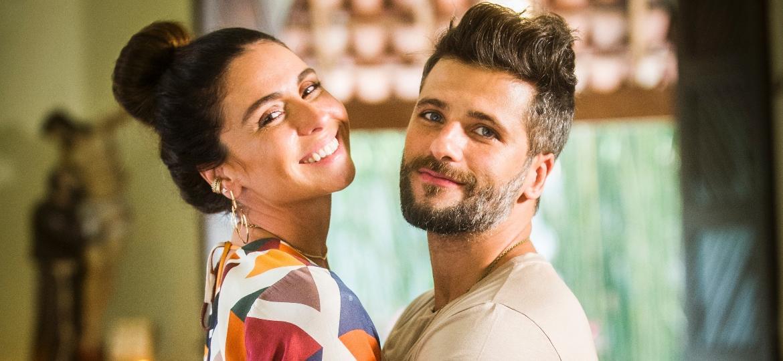 """Alice (Giovanna Antonelli) e Mario (Bruno Gagliasso) em """"Sol Nascente"""" - João Miguel Júnior/Divulgação/TV Globo"""