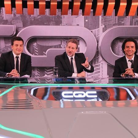 Rafael Cortez, Dan Stulbach e Marco Luque comandaram a bancada do CQC - Divulgação/TV Bandeirantes
