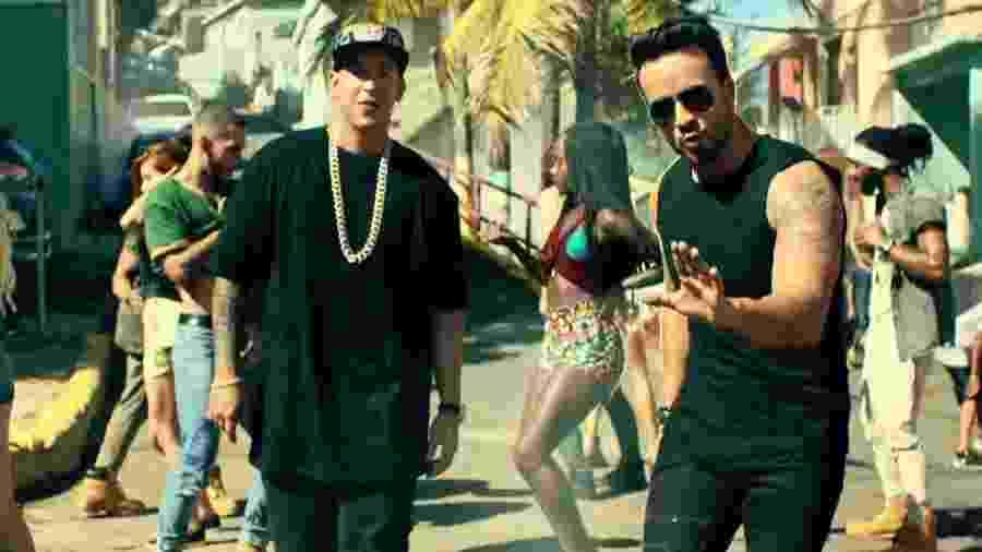 """Daddy Yankee e Luis-Fonsi no clipe de """"Despacito"""" - Reprodução"""