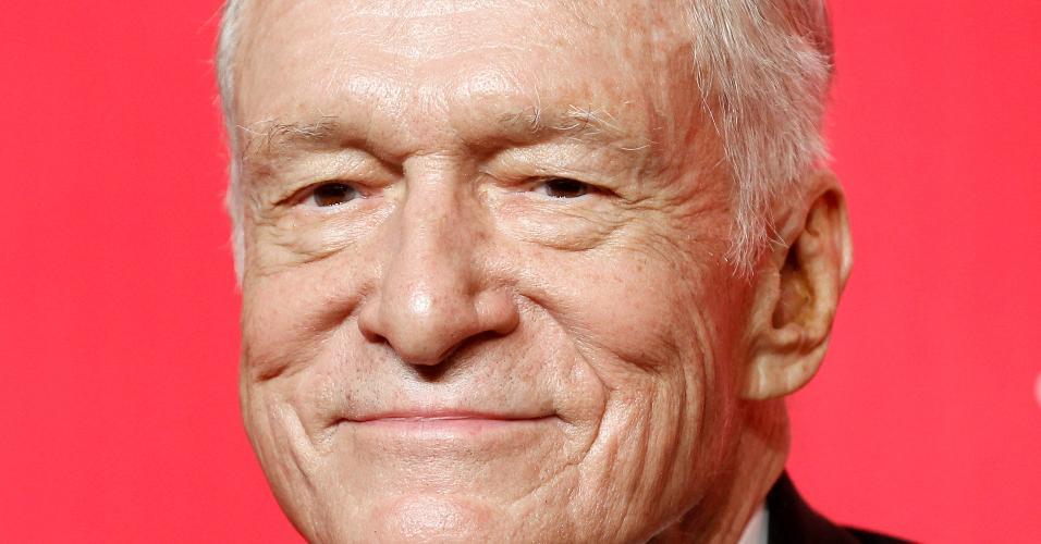 O fundador da revista Playboy, Hugh Hefner