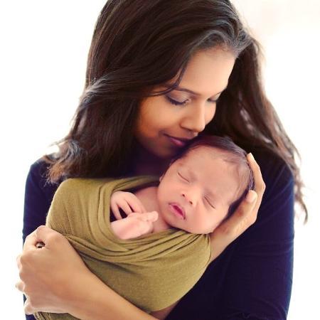 Aline Dias com o filho, Bernardo - Reprodução/Instagram