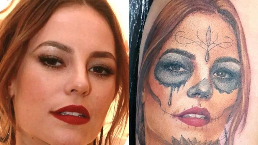 Rosto de Paolla Oliveira vira tatuagem - Reprodução/Instagram