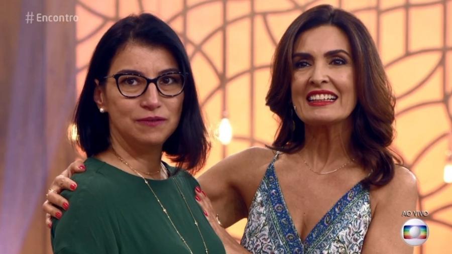 """Fátima reencontrou uma ex-aluna sua durante o """"Encontro"""" - Reprodução/TV Globo"""