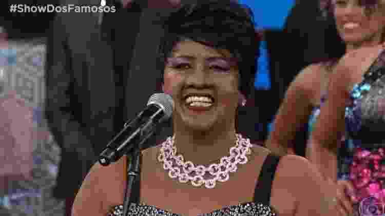 Sandra de Sá interpretou Aretha Franklin  - Reprodução/Globo - Reprodução/Globo