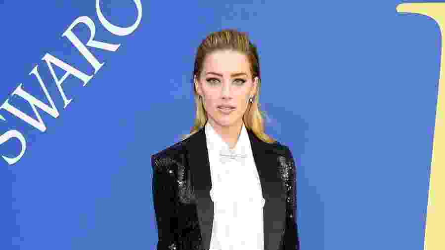 Amber Heard no CFDA Awards - Getty Images