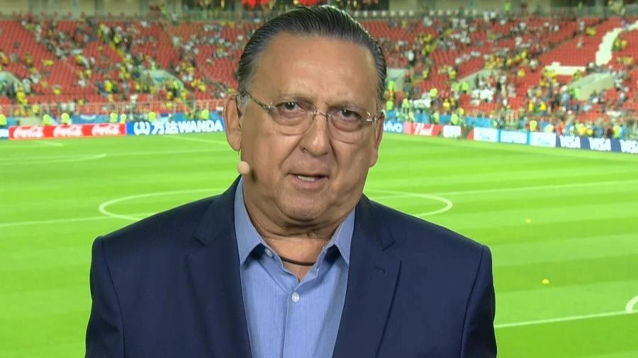 Ao final da partida com a Bélgica, que resultou na eliminação do Brasil, Galvão defendeu a permanência do técnico Tite - Reprodução/TV Globo