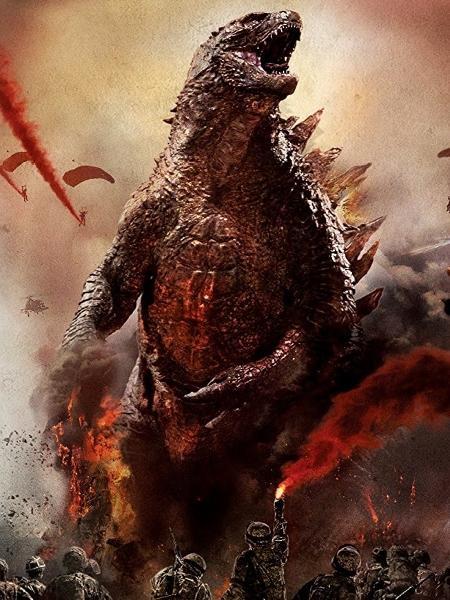 """Pôster do filme """"Godzilla"""" (2014) - Reprodução"""