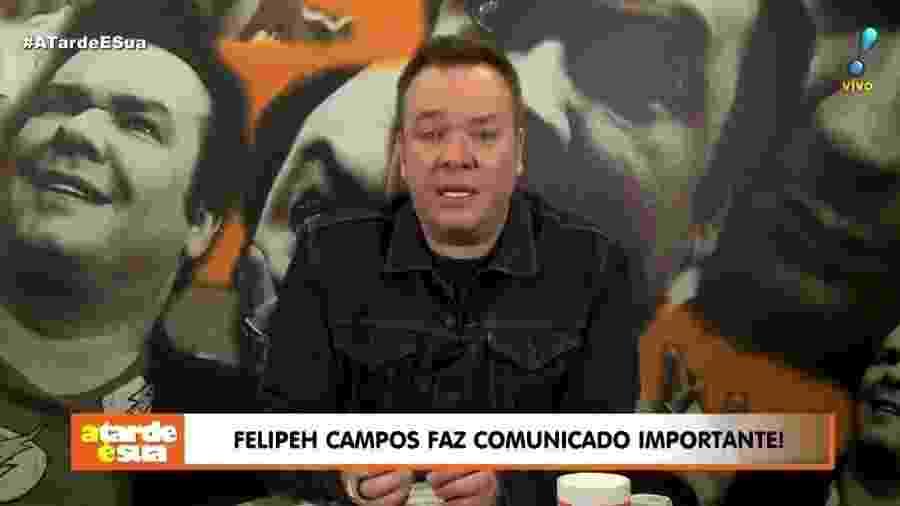 Felipeh Campos revela que está em tratamento contra câncer de testículos - Reprodução/Twitter/RedeTV!