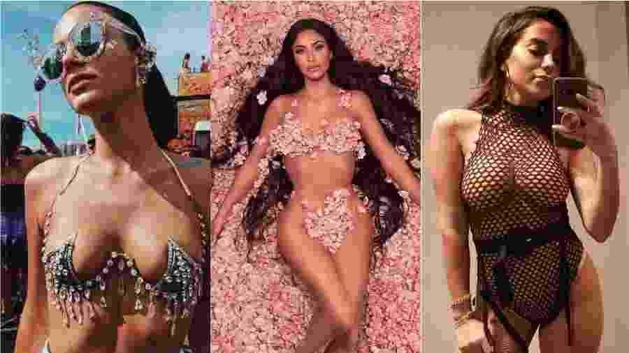 """Bruna Marquezine, Kim Kardashian e Anitta """"causaram"""" em 2018 - Reprodução/Instagram"""
