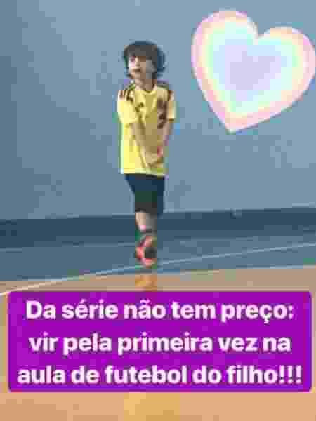Após pedir demissão, Mariana Ferrão acompanha o filho Miguel na aula de futebol - Reprodução/Instagram - Reprodução/Instagram