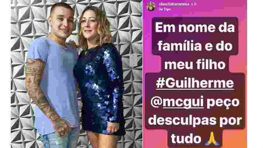 MC Gui com a mãe, Claudia Baronesa; ela pediu desculpas no Instagram - Reprodução/Instagram
