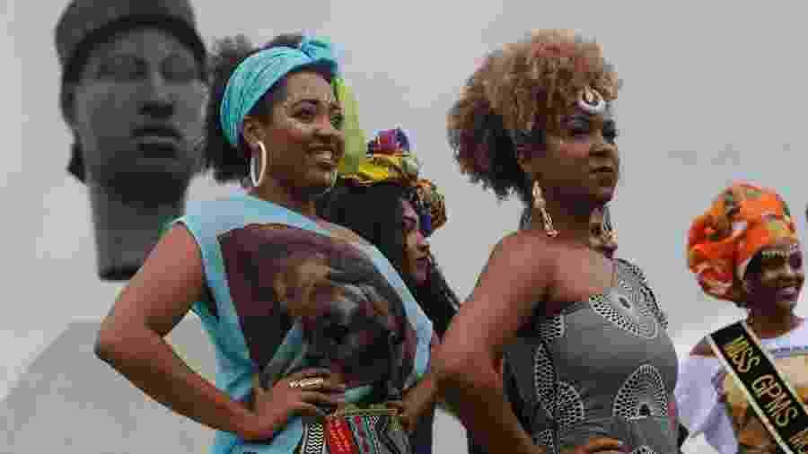 Mulheres negras no Dia da Consciência Negra - Fernando Frazão/Agência Brasil