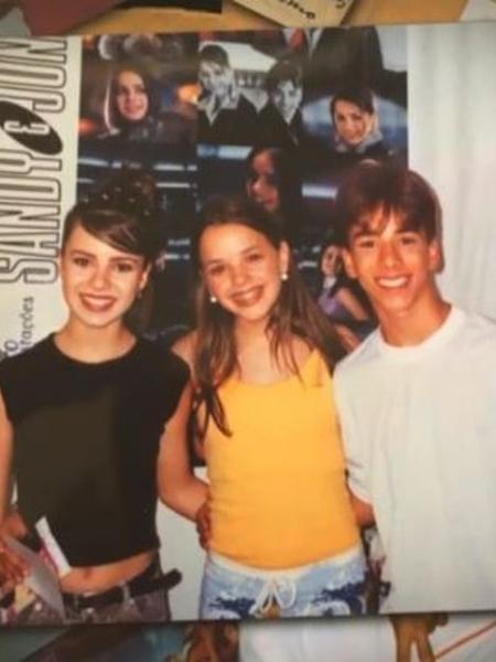 Thaeme relembra foto de infância com Sandy & Júnior - REPRODUÇÃO/INSTAGRAM