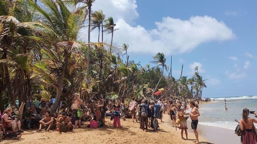 Público participa do festival Tribal Gathering, no Panamá - Reprodução/Instagram