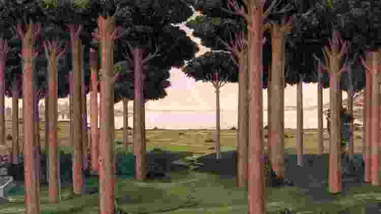"""""""O bosque italiano"""", uma reinterpretação de """"A História de Nastagio Degli Onesti"""", de Sandro Botticelli - Twitter/José Manuel Ballester - Twitter/José Manuel Ballester"""