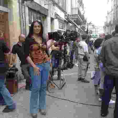 Giovanna, em um set de gravação - Arquivo Pessoal