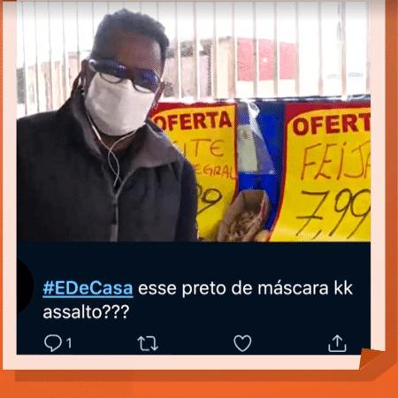 Manoel Soares, repórter da Globo, sofre racismo - Reprodução