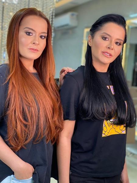 Maiara e Maraisa; irmãs viralizaram com vídeo em que Maraísa é atingida por copo jogado pela irmã - Divulgação