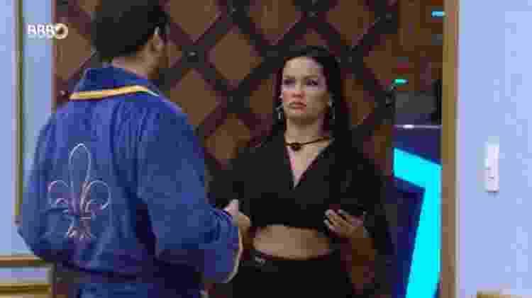 BBB 21: Juliette brinca com Gilberto sobre dormir com Fiuk - Reprodução/Globoplay - Reprodução/Globoplay