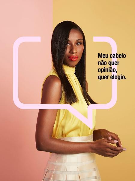 """Campanha da Salon Line: """"Meu cabelo é liso e o papo é reto"""", com Vanessa Ferreira - Divulgação/Daniel Klajmic"""